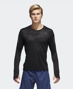 חולצת ריצה ארוכה אדידס לגברים