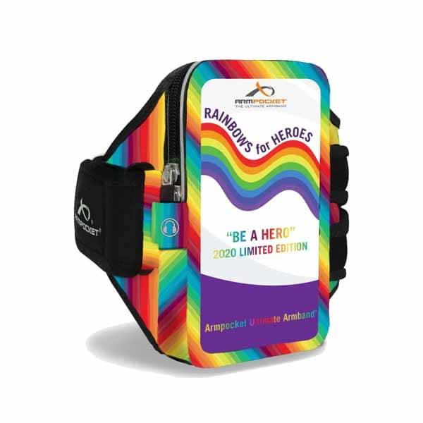 Armpocket Mega i-40 PLUS Rainbow נרתיק זרוע לריצה ארמפוקט