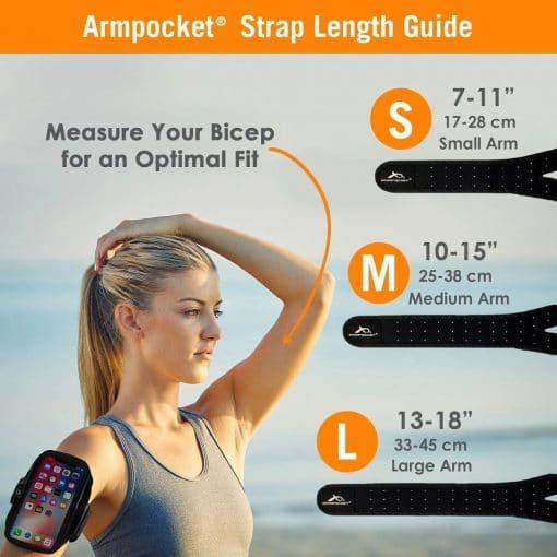armpocket size