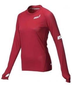 base ls dark red חולצה מנדפת זיעה ארוכה inov8