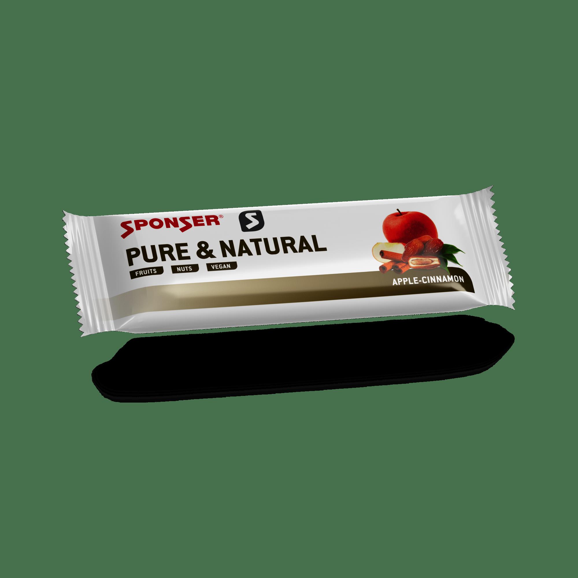חטיפי אנרגיה Sponser Energy Bar PURE & NATURAL Apple-Cinnamon