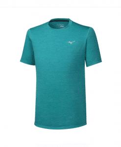 mizuno חולצת ריצה קצרה לגברים